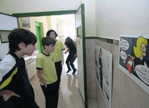 exposicion sobre la cultura asturiana en el colegio buen consejo. el pozon