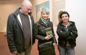 Con Ricardo Fernández y Esther Prieto en las II Jornadas de Alfarería de Avilés