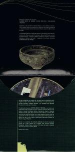 """Interior del CD- ROM """"Alfarería Negra de Miranda, Diseño: Consuma Estudio"""