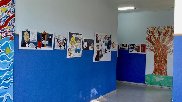 Exposicón del cómic L'enigma del palacio de Bao nel C.P. Carreño Miranda