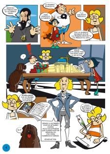 """Pág. 4 del cómic """"El enigma del palacio de Bao, ilustraciones de Frank Pérez"""