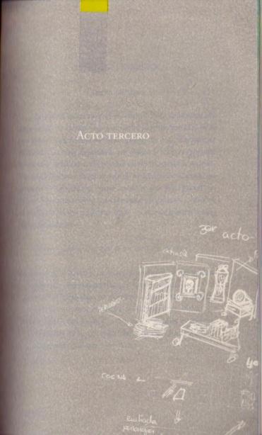 Acto III y último, boceto de Nuria Trabanco