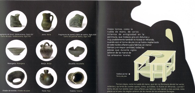 "Interior del folleto explicativo del CD-Rom ""Alfarería Negra de Miranda"", Diseño: Consuma Estudio"