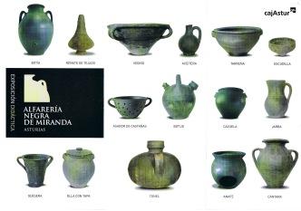 """Interior del catálogo de la exposición """"Alfarería Negra de Miranda"""", Diseño: Consuma Estudio"""