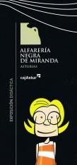 """Portada del catálogo de la exposición """"Alfarería Negra de Miranda"""", Diseño: Consuma Estudio"""