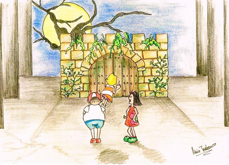 Boceto de Nuria Trabanco para la representación teatral